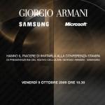 Fra sette giorni l'annuncio dello smartphone Samsung-Armani