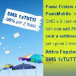 Poste Mobile SMS 1 per tutti e Mobile 7 giorni