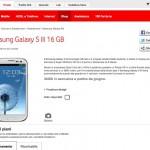 Il samsung GalaxyS3 con Vodafone